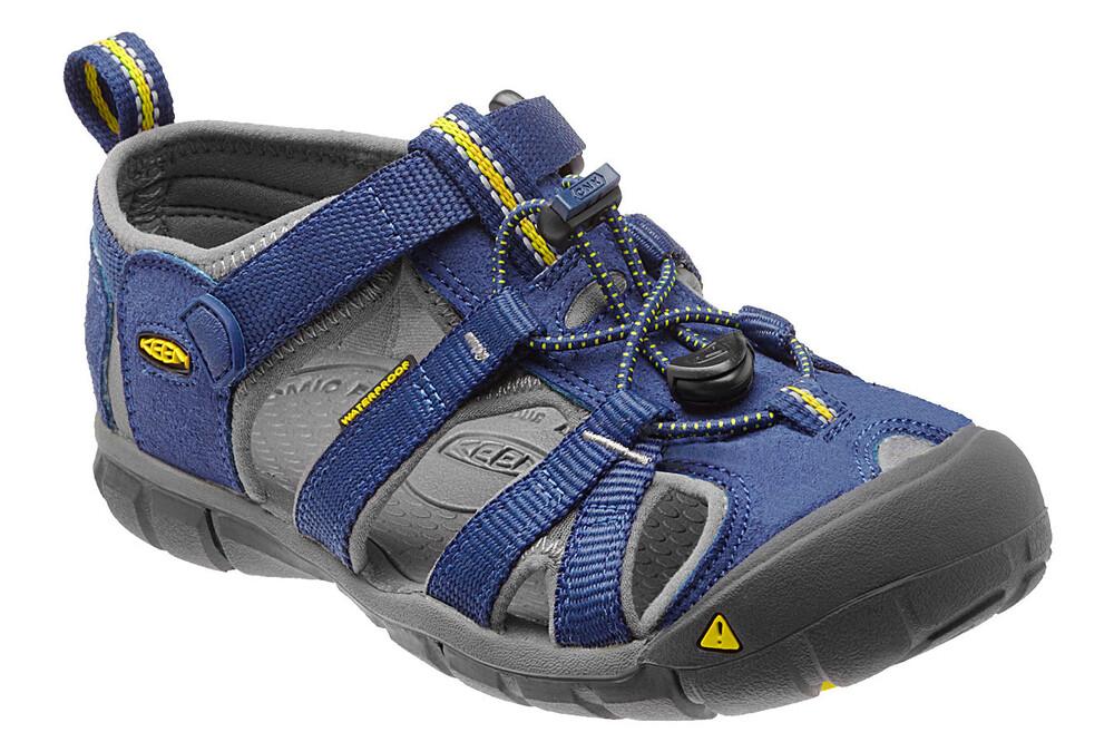 Zapatos grises con velcro formales Keen Seacamp infantiles 6y3mb8